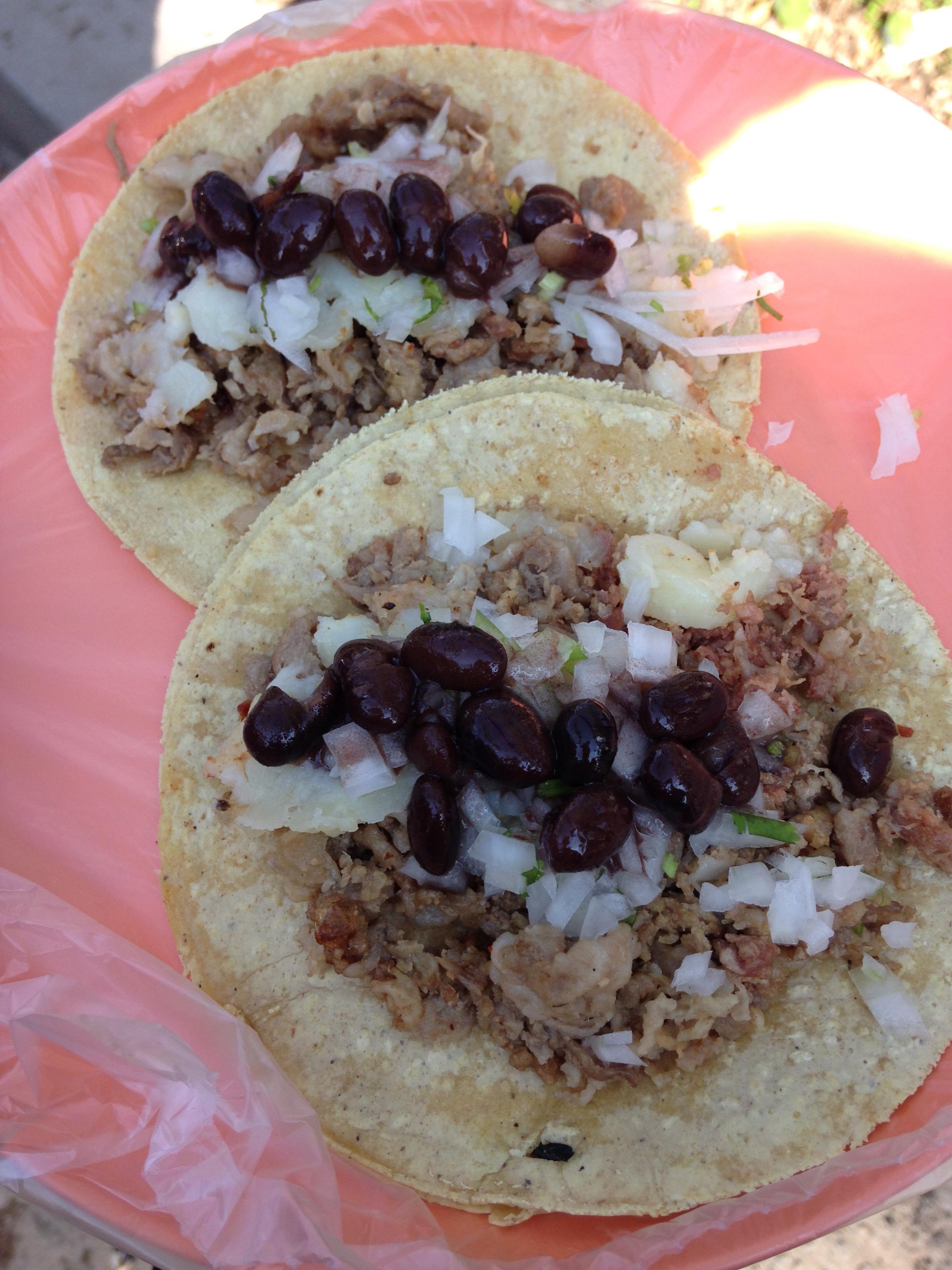 Tacos en Mexico DF